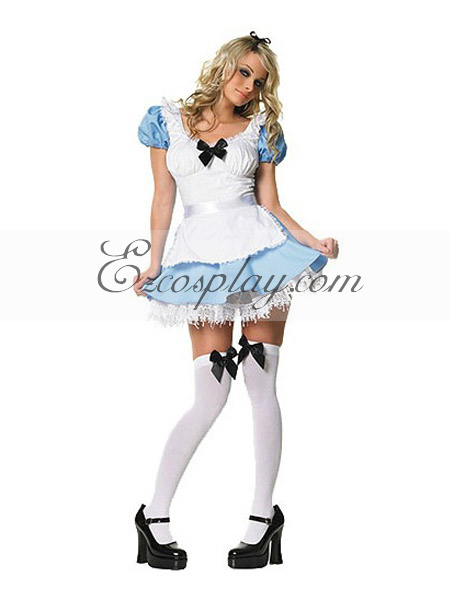 Alice Peasant Dress Adult Costume from Alice in Wonderland