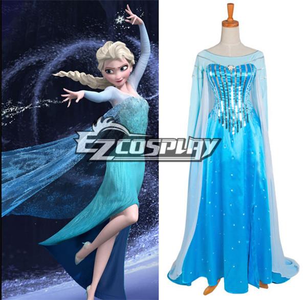Frozen Elsa Disney Cosplay Dress