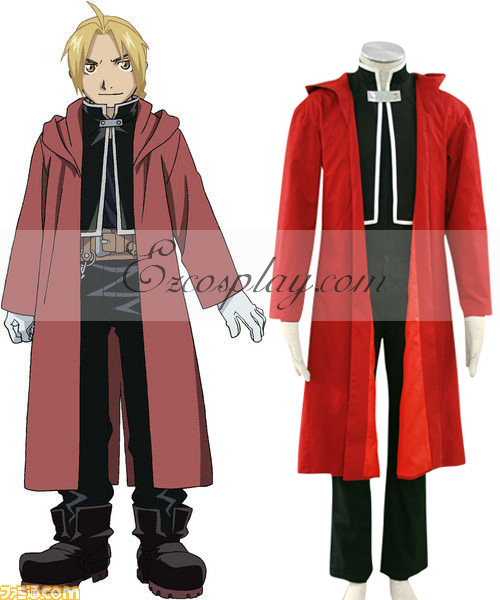 Fullmetal Alchemist Edward Elric Cosplay Costume(Only Cloak and Coat)