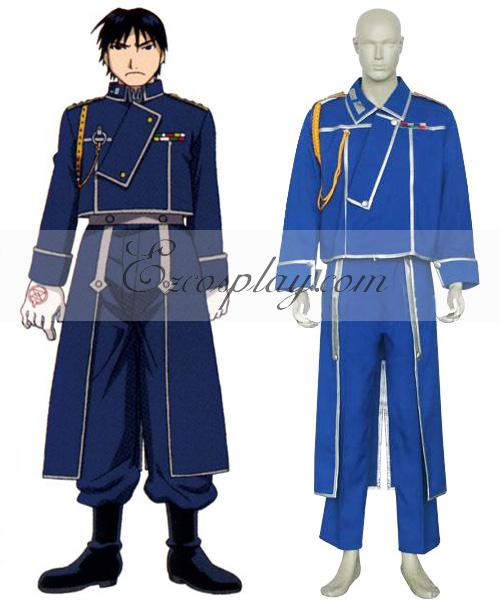 Fullmetal Alchemist Roy Mustang Military Cosplay Costume