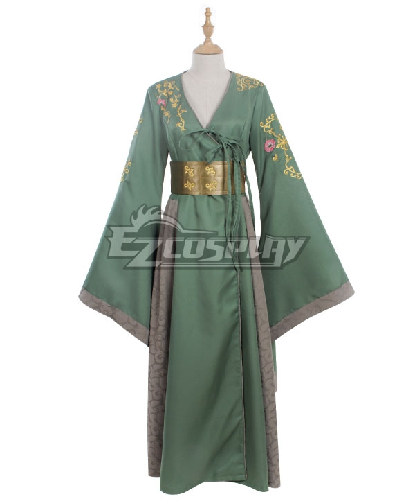 Game of Thrones 7 Queen Cersei Lannister Costume Cosplay Halloween DELUXE Dress
