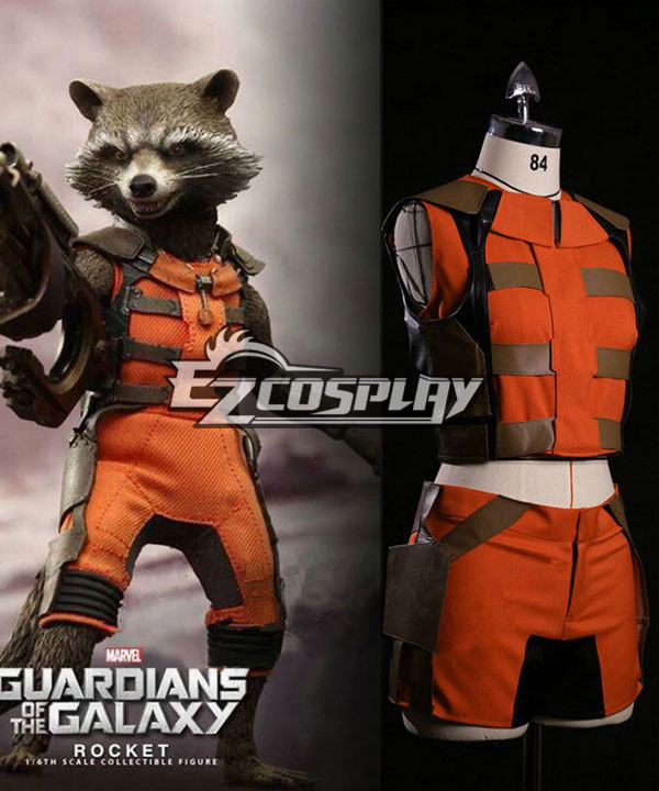 Guardians of the Galaxy Rocket Raccoon Cosplay Costume None