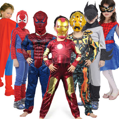 Halloween Kids Costume Iron Man Bat Man Avengers Super Man Cosplay Costume None