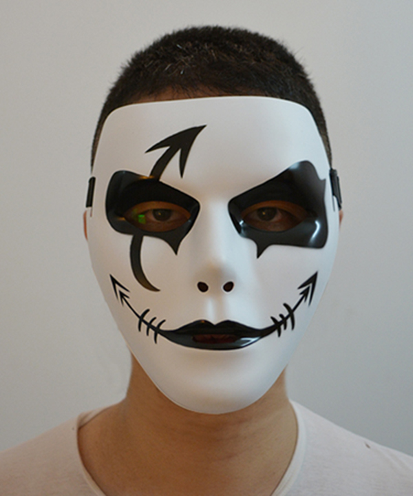 Halloween Silly Face Cosplay Mask  None