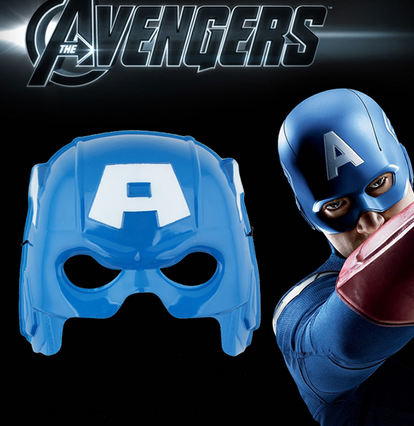 Halloween Captain America Cosplay Mask None