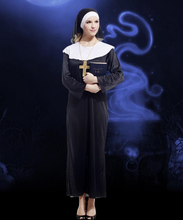Halloween Adult Costume Nun Cosplay Costume