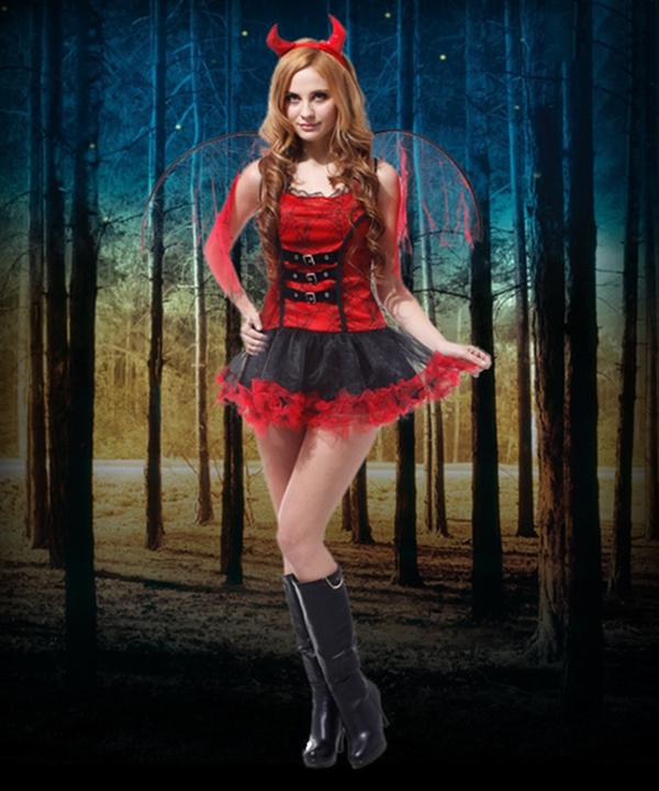 Halloween Dark Goddess Sexy Lady Cosplay Dress