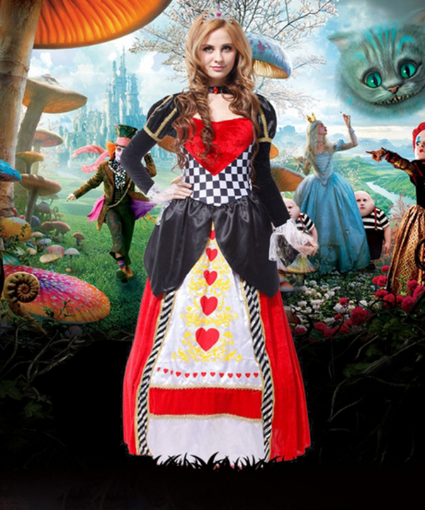 Halloween Costume Party Red Queen Witches Cosplay Costume