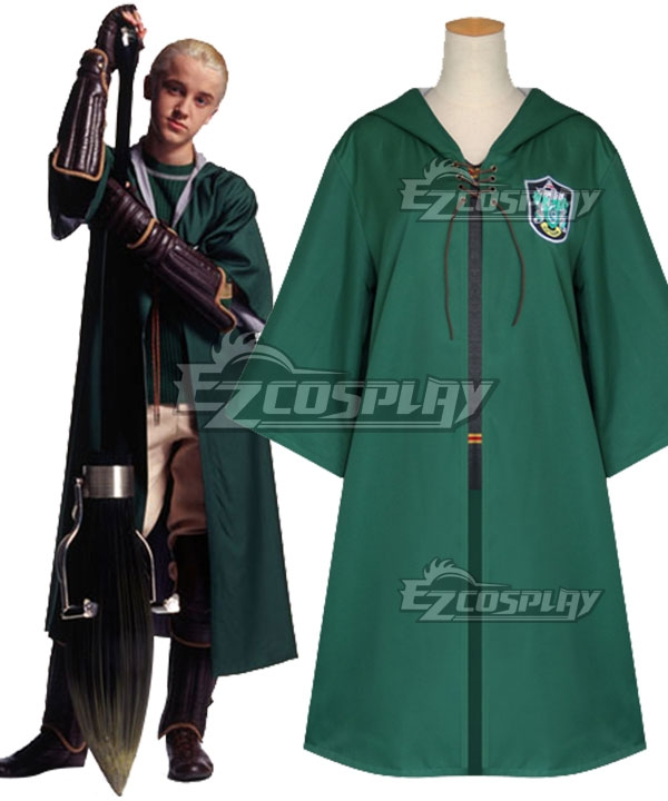 Harry Potter Quidditch Robes Green Cosplay Costume