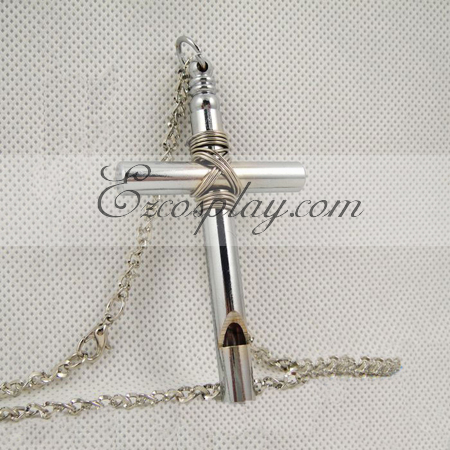 Hell girl cross whistle necklace