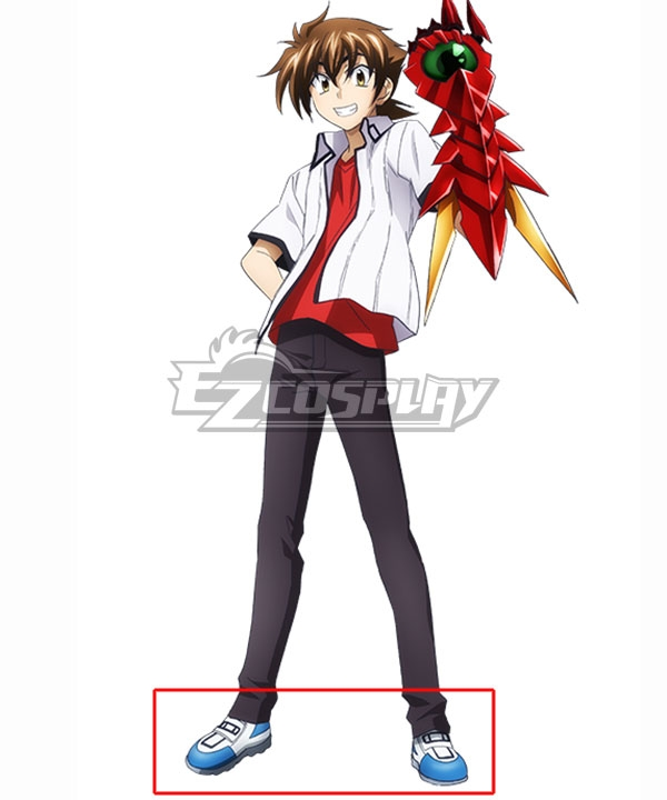 High School DxD BorN Issei Hyoudou Blue Cosplay Shoes COSS1578