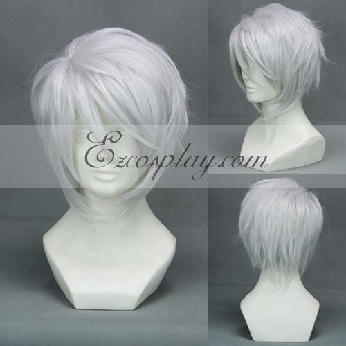 Hiiro no Kakera Komura Yuuichi White Cosplay Wig-299A