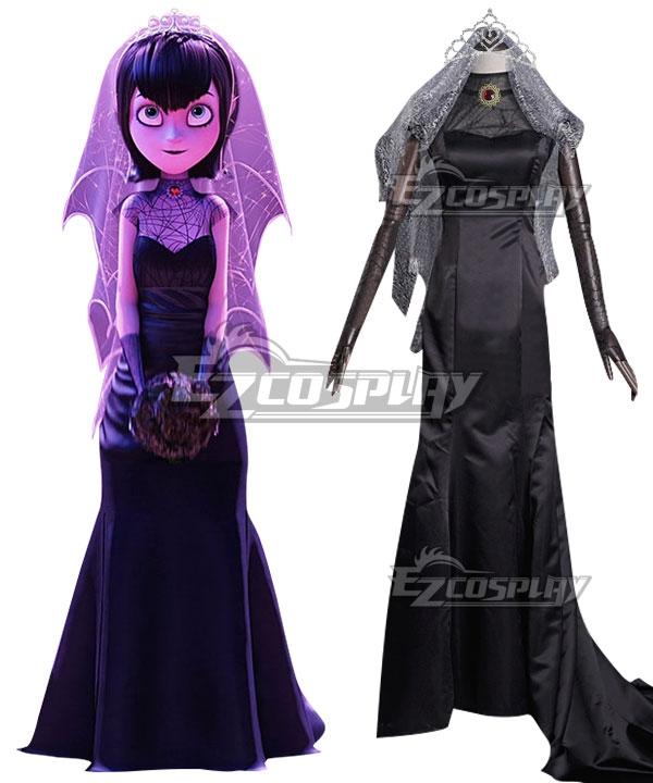 Hotel Transylvania Mavis Dracula Halloween Wedding Dress Cosplay Costume Costumes,Sheath Wedding Dress With Lace Overlay