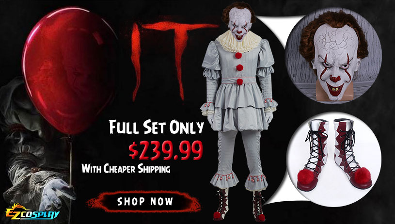 It 2017 Movie Pennywise Costumes on Sale