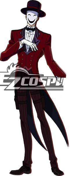 Black Bullet Kagetane Hiruko antagonist Promoter  Initiator White Smile Mask Man Cosplay Shoes None