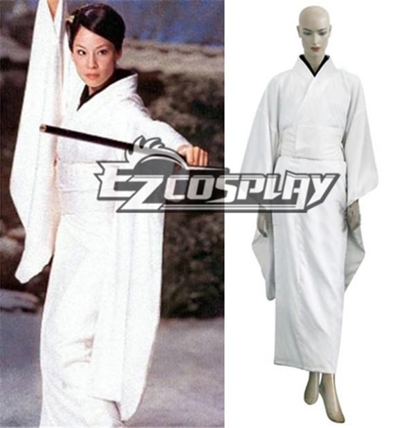 Kill Bill O-Ren Ishii White Kimono Cosplay Costume