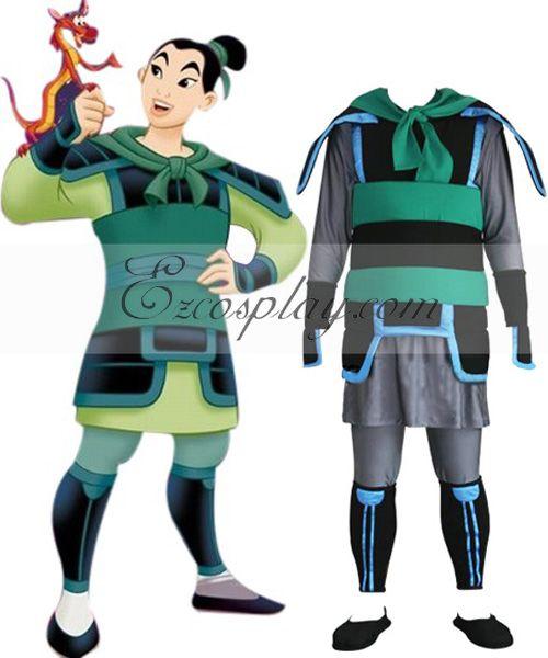 Kingdom Hearts 2 Mulan Cosplay Costume  EKH0014