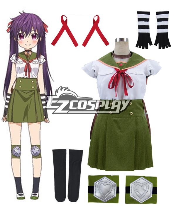 School-Live! Gakko Gurashi! Living at School! Kurumi Ebisuzawa School Uniform Cosplay Costume