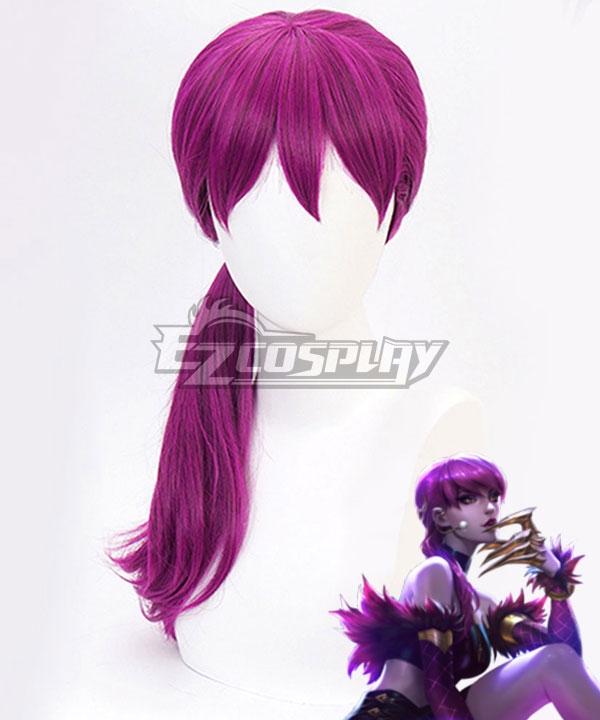 League Of Legends LOL K/DA Evelynn Purple Cosplay Wig