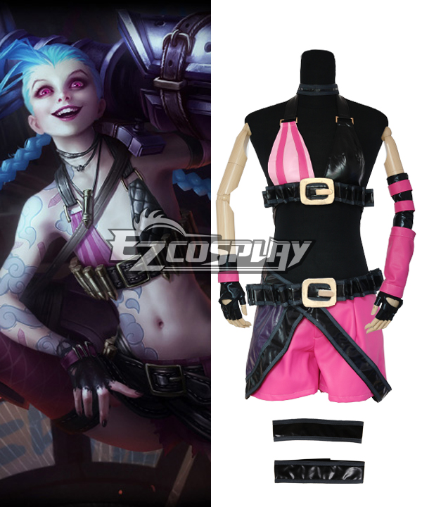 Image of League Of Legends LOL JINX The Loose Cannon Cosplay Costume