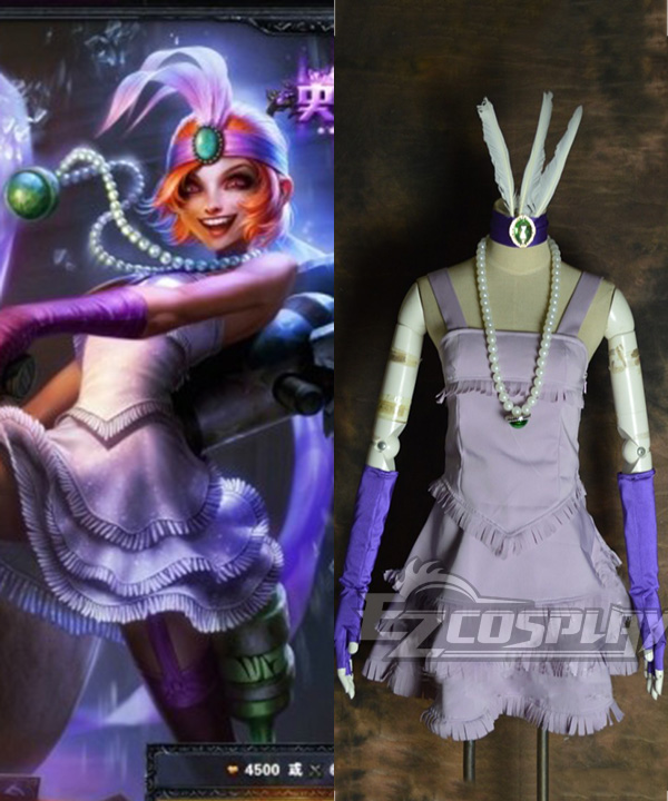 Image of League of Legends LOL Jinx The Loose Cannon Gangster Flower Cosplay Costume