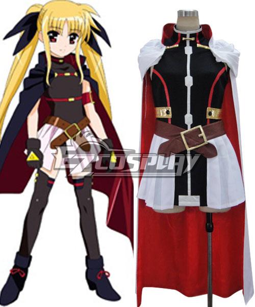 Magical Girl Lyrical Nanoha ViVid Fate Testarossa Harlaown Cosplay Costume