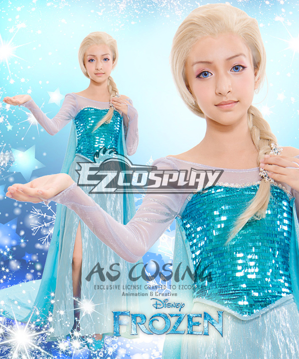 Frozen Elsa Disney Daily Childrenwear Dress Cosplay Costume