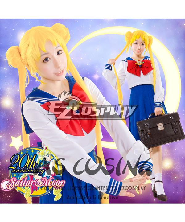 Image of Sailor Moon Tsukino Usagi Princess Serenity Jyoshikoukousei JK School Uniforms Cosplay Costume  Deluxe Edition