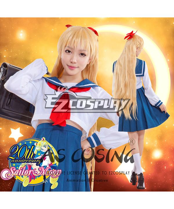 Sailor Moon Minako Aino Mina Aino Sailor Venus Jyoshikoukousei JK School Uniforms Cosplay Costume - Deluxe Edition