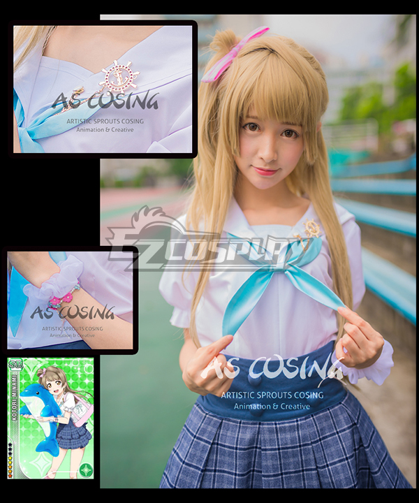 Love Live! LoveLive! School Idol Festival Navy Marine Minami Kotori Unawakened Sailor Cosplay Costume - Deluxe Version None