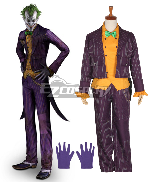 DC Comics Batman: Arkham Asylum Joker Cosplay Costume None
