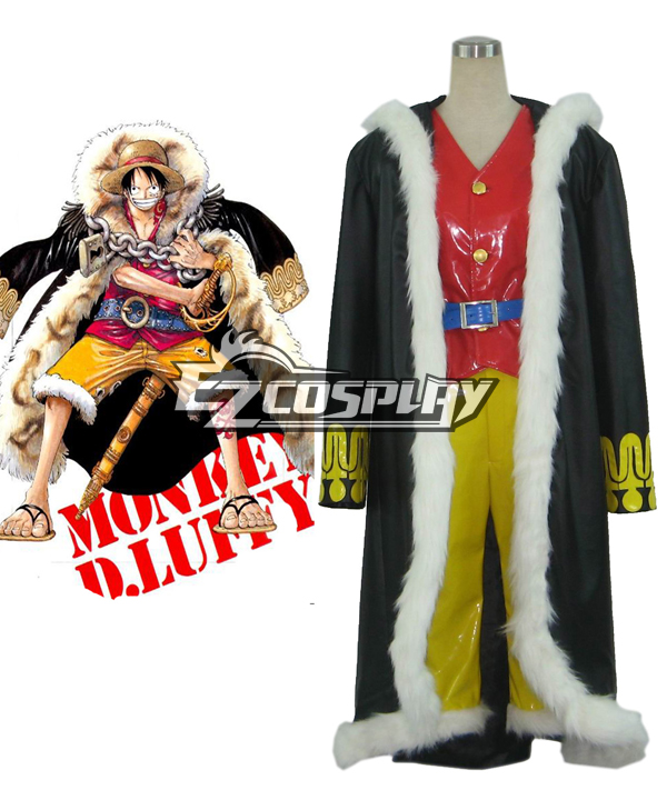 One Piece Monkey·D·Luffy The New World Captain Cosplay Costume