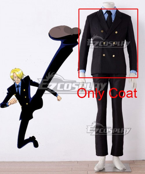 One Piece Sanji Vinsmoke Uniform Cosplay Costume - Only Coat