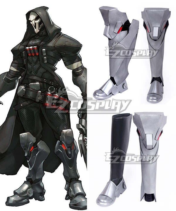 OW Overwatch Reaper Gabriel Reyes Boots Cosplay Shoes