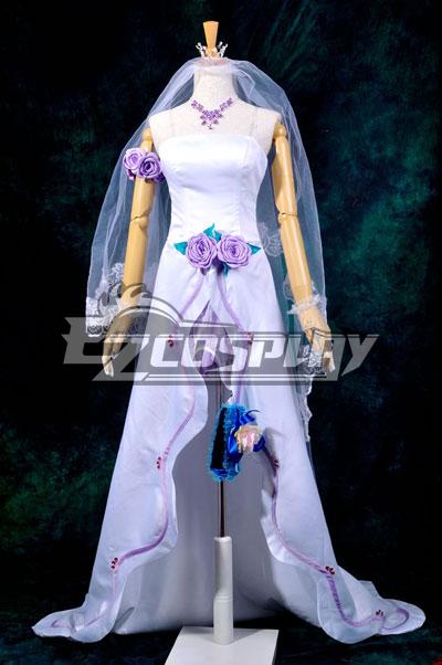 Macross Frontier Sheryl Wedding Dress Cosplay Costume Deluxe-P1
