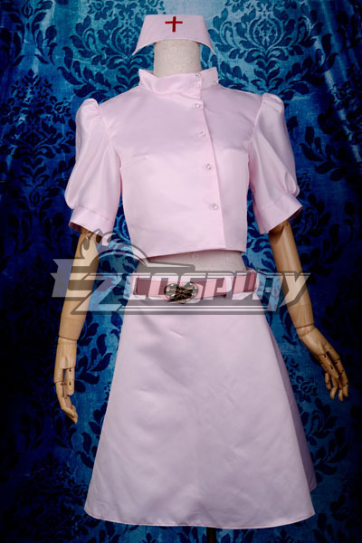 My Little Monster Shizuku Nurse Cosplay Costume Deluxe-P7