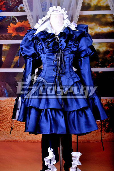 Pandora Hearts-Bloodied Black Rabbit Gothic lolita Cosplay Costume