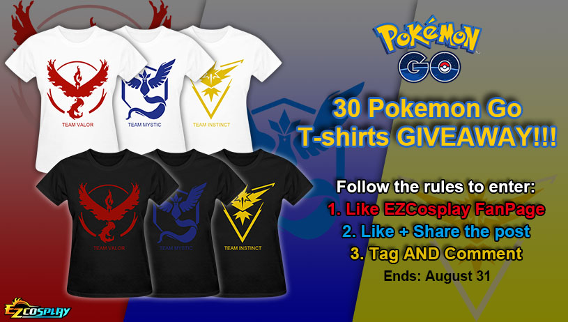 Pokemon Go T-shirt Giveaway