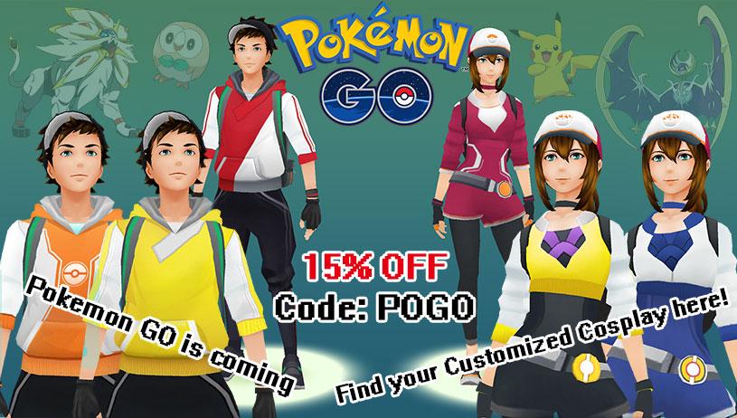Pokemon go Cosplay Costume On Sale