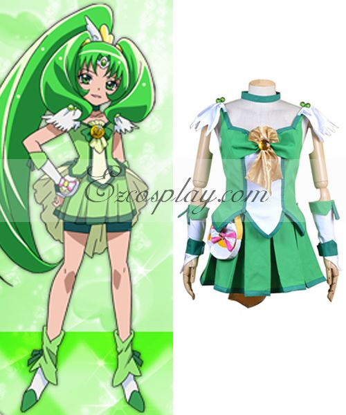 Pretty Cure Smile PreCure Midorikawa Nao Cure March Cosplay Costume