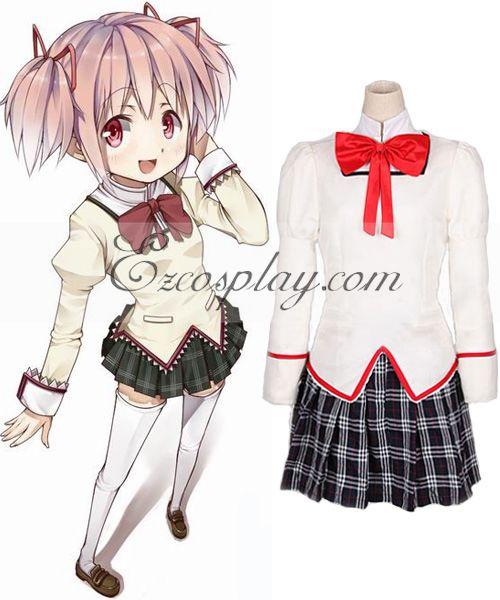 Puella Magi Madoka Magica Kaname School Uniform Cosplay Costume None