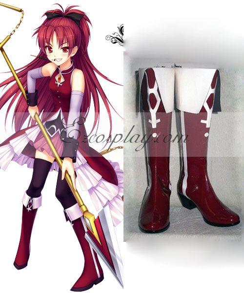Puella Magi Madoka Magica Sakura Kyoko Red Or Dark Red Cosplay Shoes None