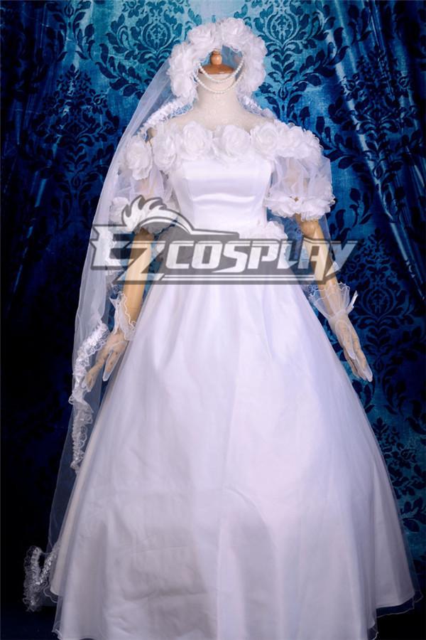 Sailor Moon Usagi Tsukino Wedding Lolita Cosplay Anime Costume-Y560 None