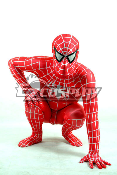Marvel Spiderman Red Suit Cosplay Costume None