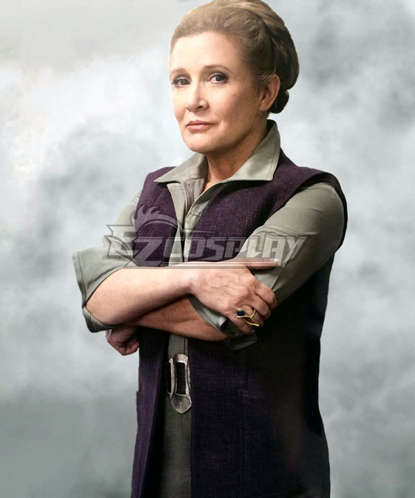 Star Wars Episode 7 The Force Awakens General Leia Organa Cosplay Costume None