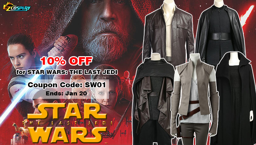 Star Wars: The Last Jedi Costumes on Sale