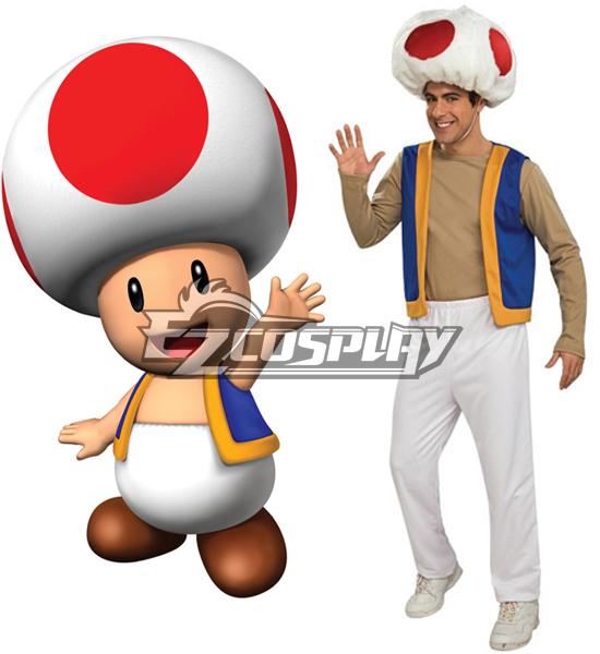 Super Mario Bros Adult Toad Cosplay Costume