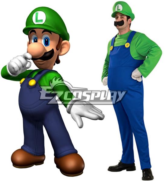 Super Mario Bros Luigi Mario Adult Cosplay Costume