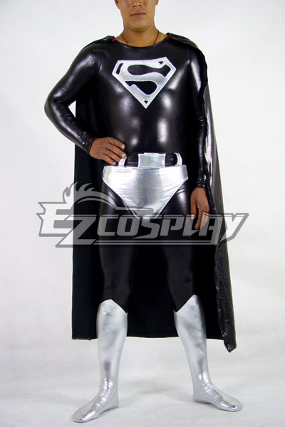 DC Superman Black Cosplay Costume
