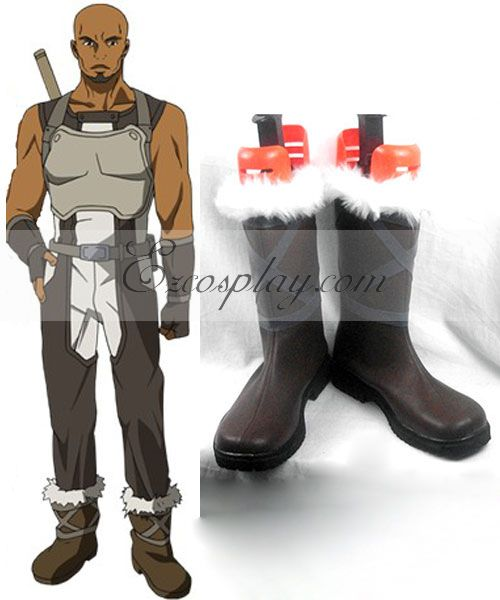 Sword Art Online Agil Green Cosplay Shoes